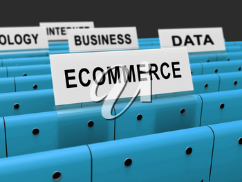Ecommerce Platform Virtual Marketplace Portal 3d Rendering Shows Using A Virtual E-Store To Showcase Software Or Products
