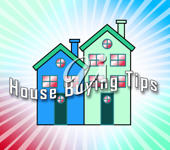 House Buying Tips Icon Depicts Assistance Purchasing Residential Property. Real Estate And Mortgage Finance Guidance - 3d Illustration