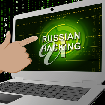 Election Hacking Russian Espionage Attacks 3d Illustration Shows Hacked Elections Or Ballot Vote Risk From Russia Online Like US Dnc Server Breach
