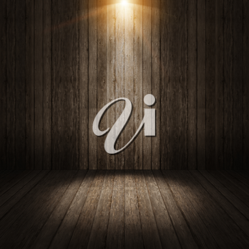 Ray light on wall vintage background 3d