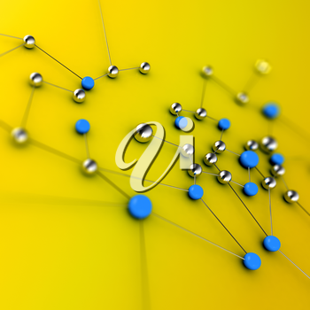 Network concept. 3d rendering image connection background