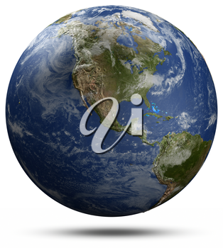 North America. Elements of this image furnished by NASA 3d rendering