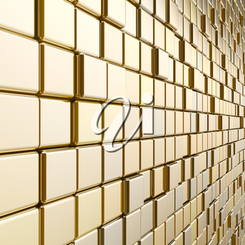 Gold mosaic. High quality 3d rendering colors background