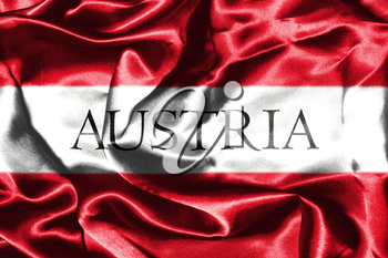 Austrian Flag Grunge Looking With Country Name On It