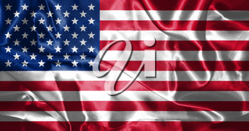 United States of America Flag In Original Colors and Proportion 3D illustration