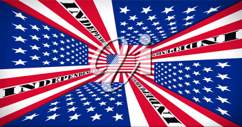 Independence Day. Happy 4th of July Concept. American Flag Perspective 3D illustration