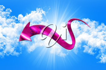 Sex Concept. Arrow With Sex Written On It Showing The Way On Sky and Clouds Background 3D illustration