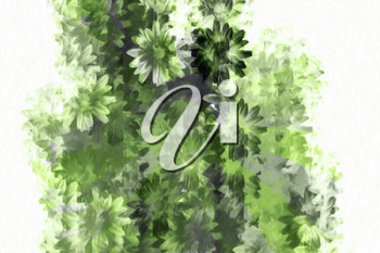 Abstract grunge floral background pattern. Digitally created illustration.